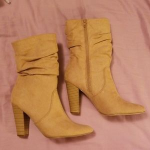 Slouch Tan Booties